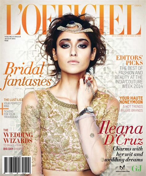 ileana dcruz photoshoot for lofficiel magazine august 2014 ileana d cruz latest hot l officiel india magazine photo
