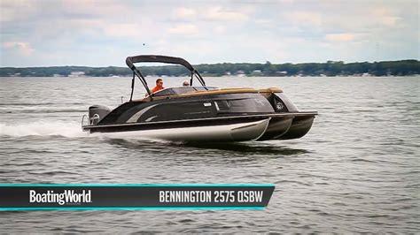 bennington pontoon boat test bennington 2575 qsbw pontoon boat test youtube