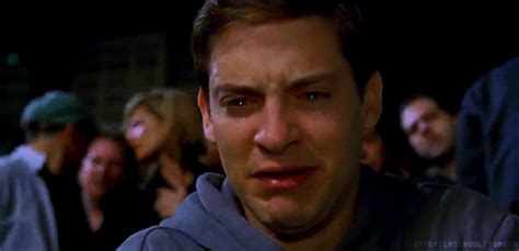 Tobey Maguire Face Meme - tobey maguire crying meme