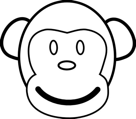 monkey template monkey clip at clker vector clip