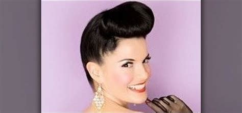 fifties updo how to create a 1950s pin up girl updo inspired by bernie
