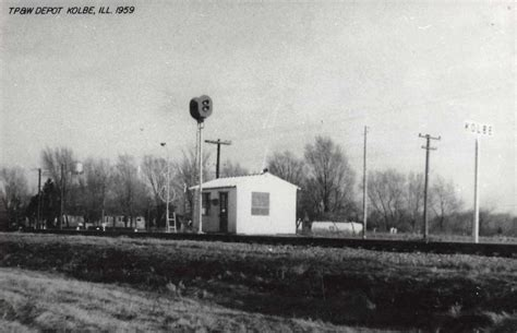 kolbe illinois 1959 toledo peoria western depot real