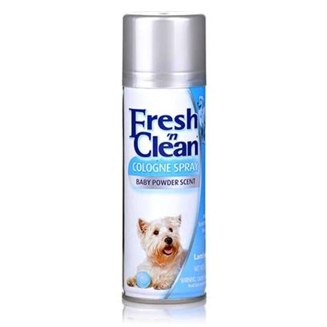 puppy cologne fresh n clean cologne spray for dogs baby powder scent petcarerx