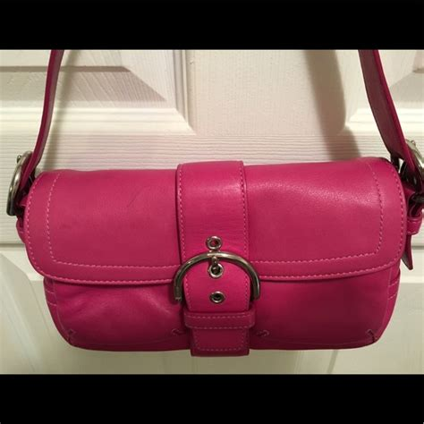 Tas Coach Flap Anyaman Signature 991 86 coach handbags coach soho pink magenta leather shoulder bag from caitlin posh