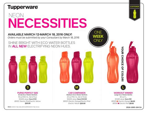 Tupperware New Eco 1l Ungu Orange tupperware sale flyer 2016 week 12 by claudee galipeau issuu