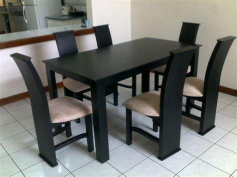 muebles figo comedor seis sillas negro madera de pino chileno