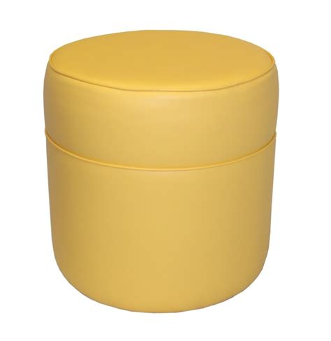 round yellow ottoman small round ottoman giving extra update in your home decor