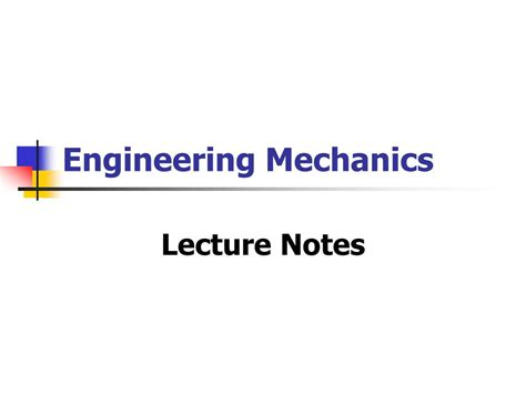engineering mechanics powerpoint  id