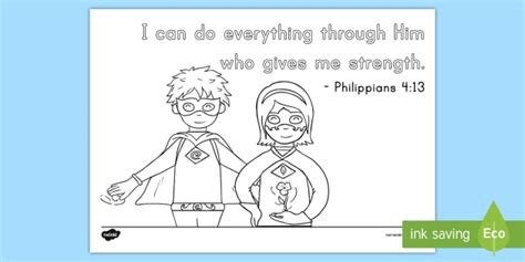 Coloring Page For Philippians 4 13 by Pre K Philippians 4 13 Coloring Page Bible Memory Memory