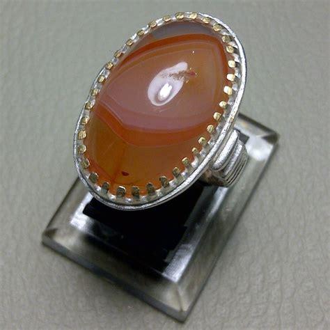 Batu Akik Orange Motif pesona keindahan batu akik borneo motif