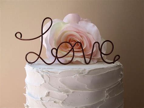 love wedding cake topper custom wedding cake topper shabby chic wedding cake decoration wine