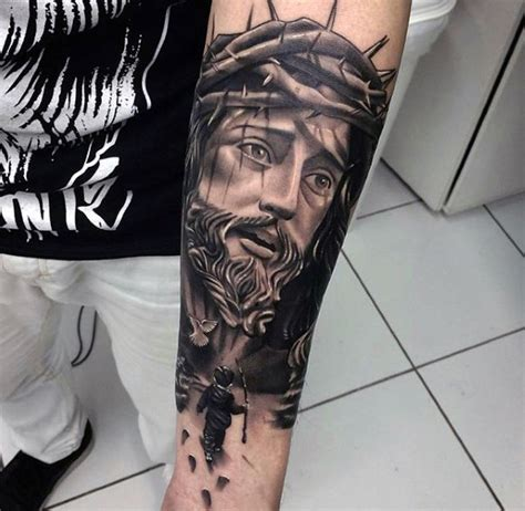jesus tattoo on forearm 50 jesus forearm designs for ink ideas