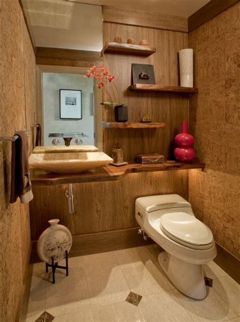 zen powder room bath design