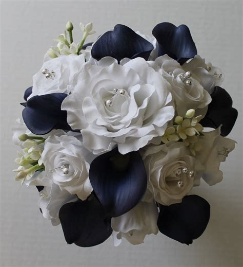 Wedding Bouquet Navy Blue navy blue wedding bouquet navy blue calla bouquet navy
