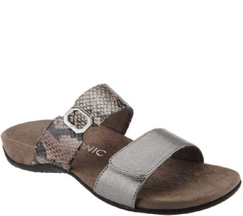 vionic shoes qvc vionic orthotic slide sandals camila qvc
