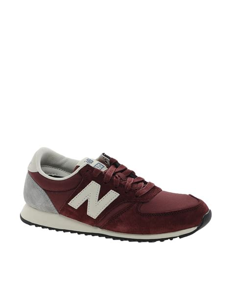 new balance 420 sneakers new balance 420 burgundy suede sneakers in brown lyst