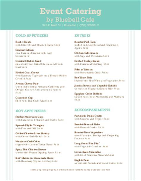 catering menu templates  designs musthavemenus