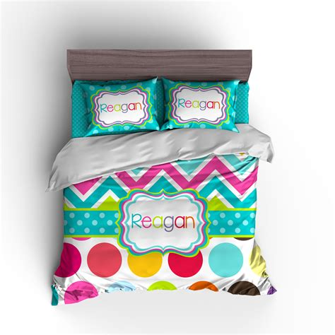 personalized bedding personalized duvet set personalized comforter set