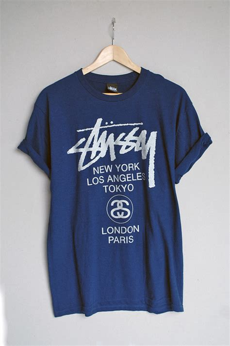 Hoodie Stussy New Yorkleadermerch stussy world tour t shirt navy white t shirts moose limited