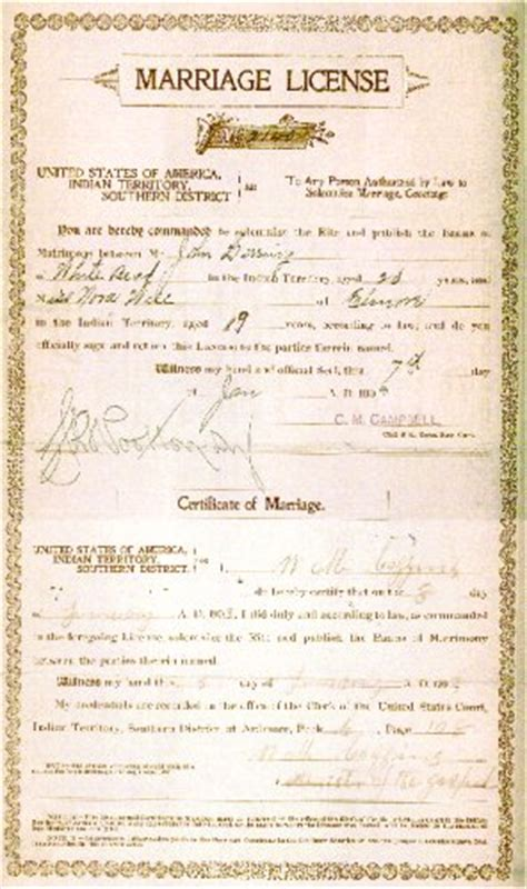 Marriage Records In Oklahoma Pontotoc Co Ok The Herring Family