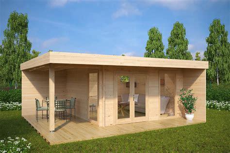 Gartenhaus Mit Lounge modernes gartenhaus mit terrasse hansa lounge xl 15m 178