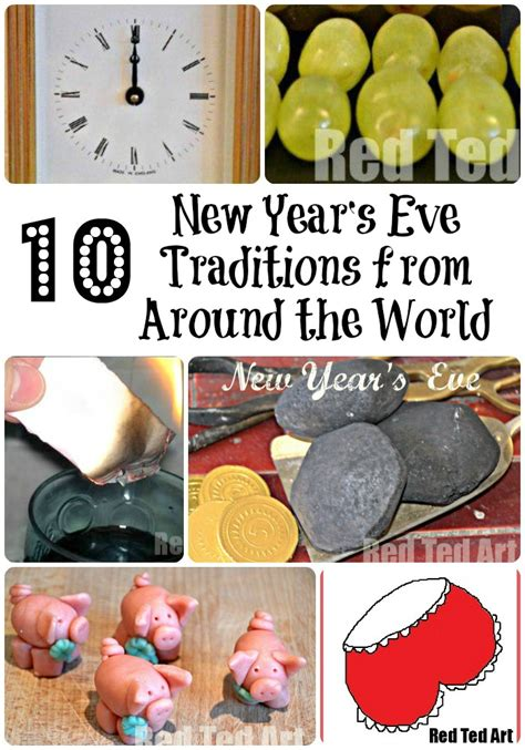 new year s eve traditions from around the world red ted
