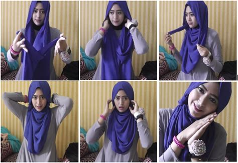 tutorial jilbab segi empat ala natasha farani video cara memakai jilbab paris ala natasha farani