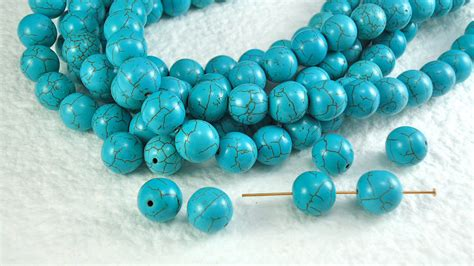 real turquoise 10 real howlite turquoise 10mm with