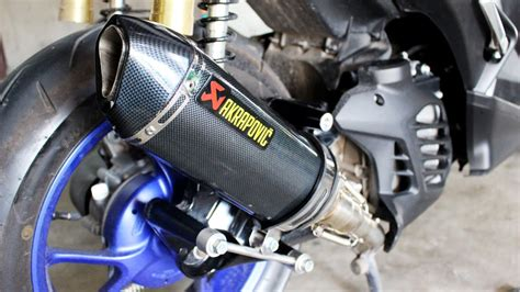 Sparepart Aerox 155 aerox 155 akrapovic exhaust part 1 change exhaust