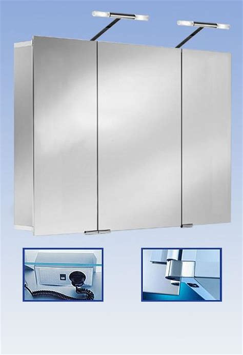 stylish aluminium bathroom cabinet with lights