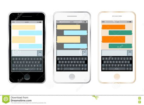 messenger mobile mobile messenger chat with smartphone sending a