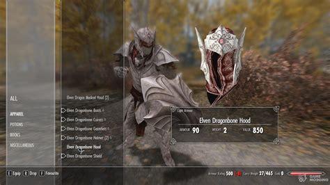 skyrim best light armor elven dragonbone light armor set for tes v skyrim