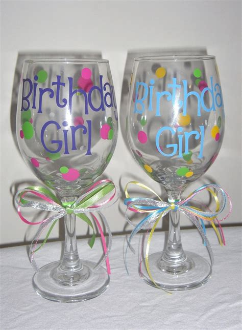 wine glass birthday 25 best ideas about birthday wine glasses on pinterest