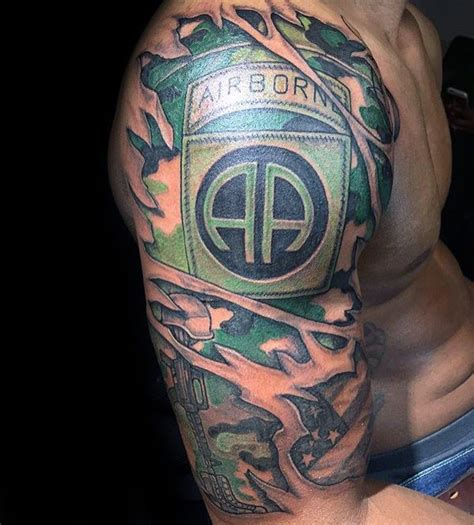 camo tattoo half sleeve 30 airborne tattoos for men military ink design ideas