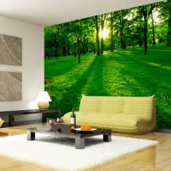 forest wood landscape trees wallpaper nature photo wallpaper wall mural 3d wall art room decor