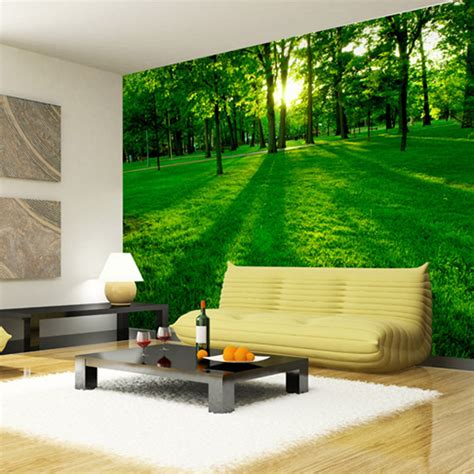 Home Decor Murals by Aliexpress Buy Forest Wood Landscape Trees Wallpaper