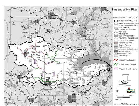 wi dnr land map wolf river basin wdnr