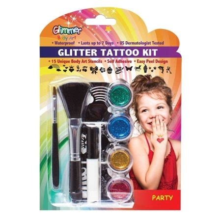 henna tattoo kits for kids glimmer glitter temporary kit