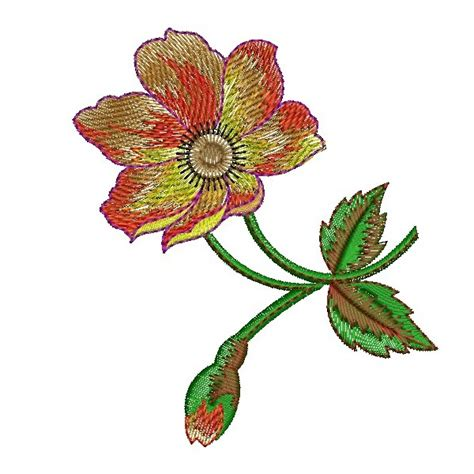 embroidery design in flower flower embroidery design clipart best