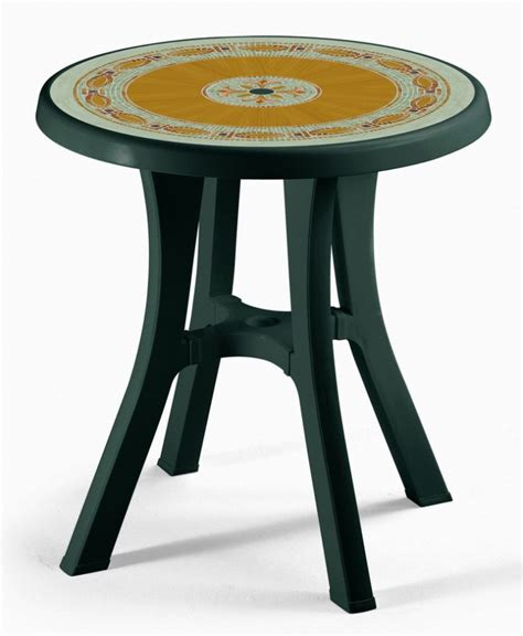 Plastic Bistro Table Scab Pol 70cm Resin Bistro Table In Forest Green With Mosaic 163 72 50
