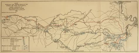 Massachusetts Records After 1915 Map Map Showing The Operations Of The Army Of The Potomac Command Of Mag
