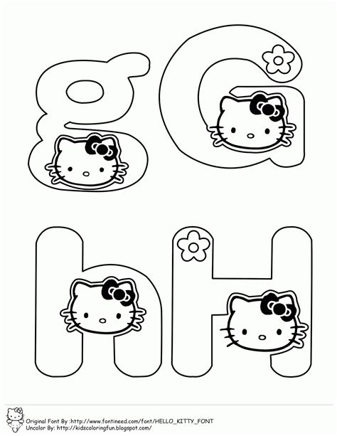 hello kitty coloring pages with letters learning abc with hello kitty fantasy coloring pages