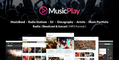 musicplay music dj responsive wordpress theme by