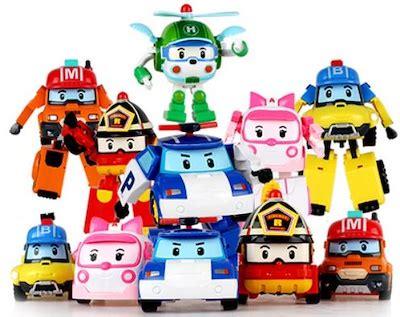 New 2pc Robocar Poli qoo10 robocar toys