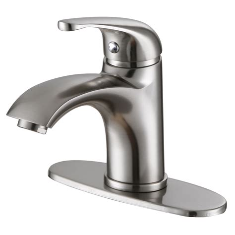 elite bn luxury short brushed nickel single handle bathroom lavatory faucet bathroom sinks