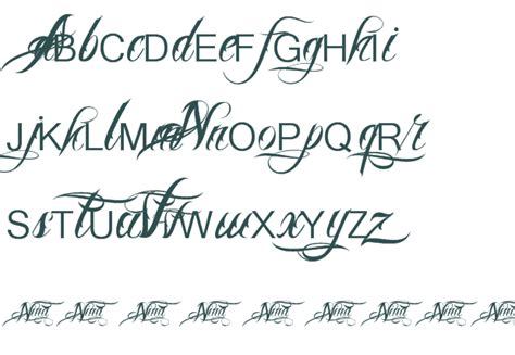 tattoo fonts preview pin pin free cursive fonts on on