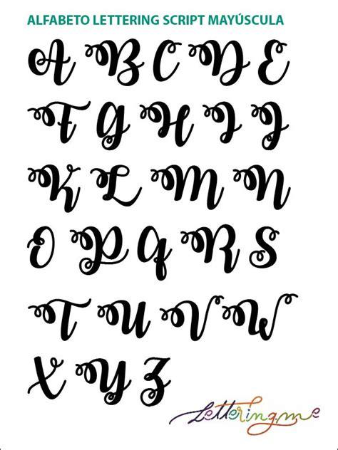 the script y alfabeto lettering script lettering