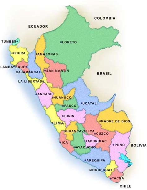 peru political map maps