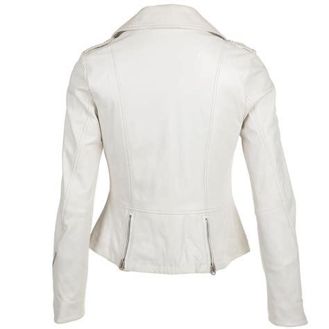 white leather motorcycle jacket womens leather biker jacket white alaana