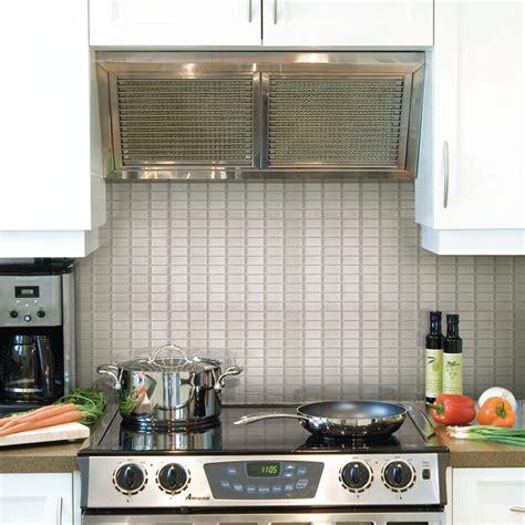 smart tiles kitchen backsplash 2018 smart tiles stainless 10 625 in w x 10 00 in h decorative mosaic wall tile backsplash 12 pack